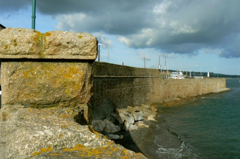 penzance harbour wall & battery rocks