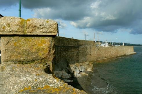 penzance harbour wall & battery rocks